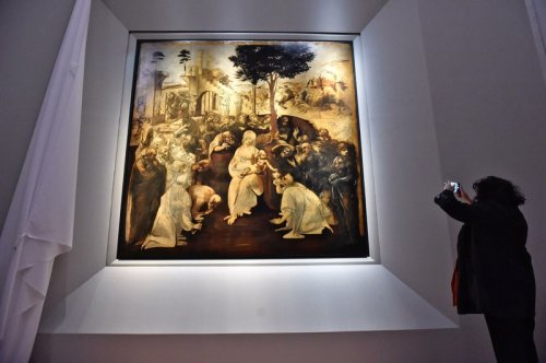 Adoration of the Magi after restoration tourist photo