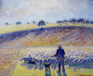 Pissaro - Shepherd-and-Sheep