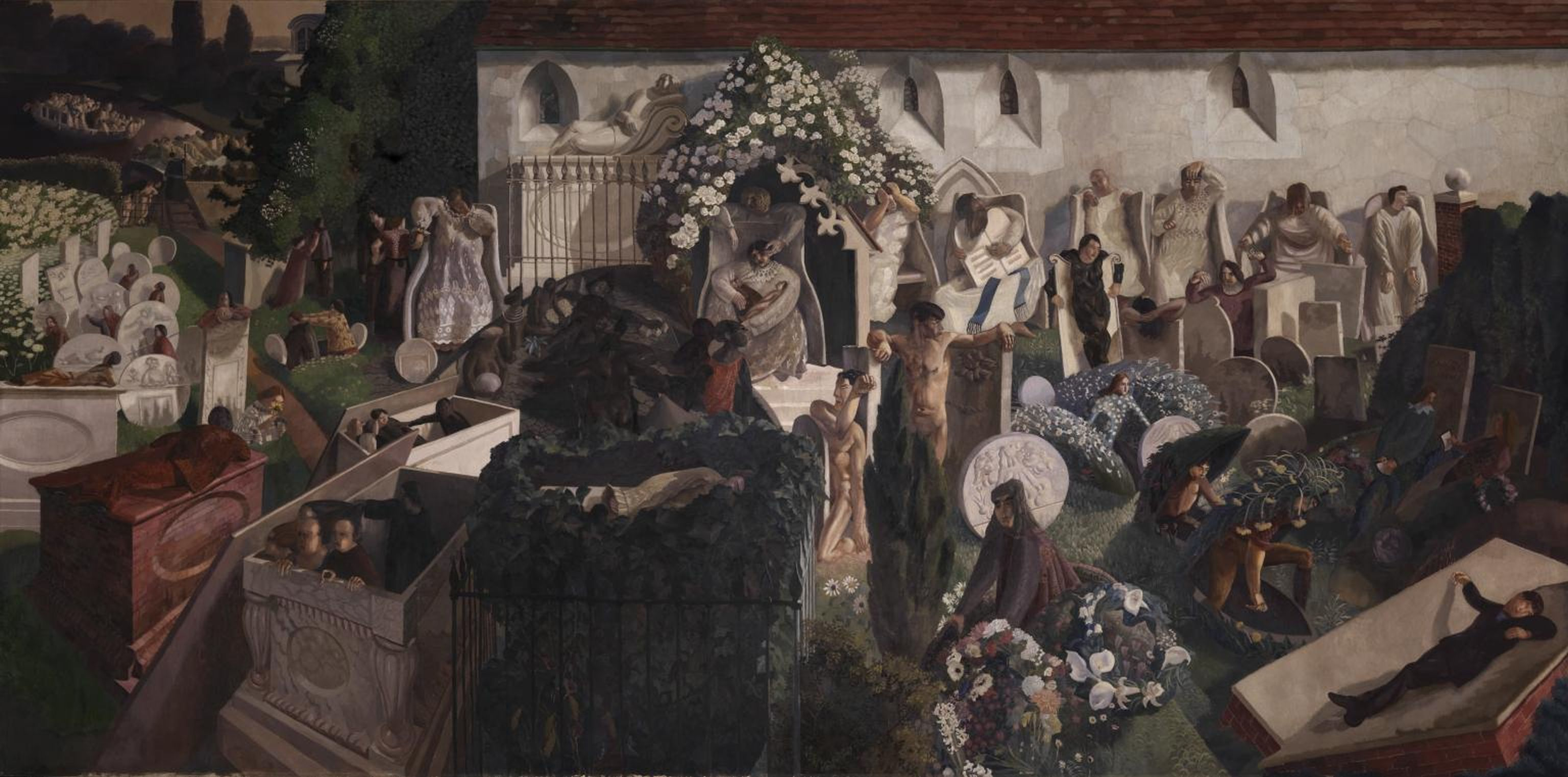 The Resurrection, Cookham 1924-7 by Sir Stanley Spencer 1891-1959