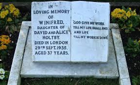 Winifred Gravestone epitaph